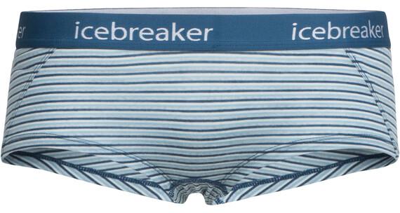 Icebreaker W's Sprite Hot Pants waterfall/snow/stripe